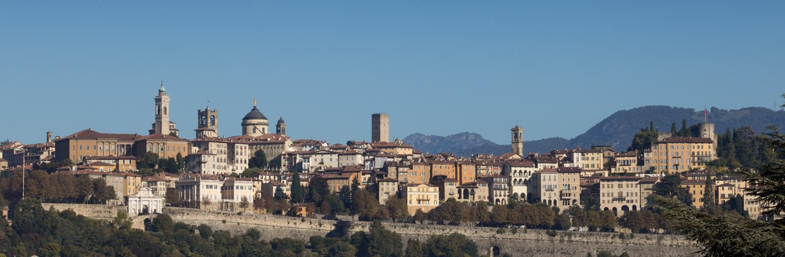 Veduta panoramica di Bergamo Alta